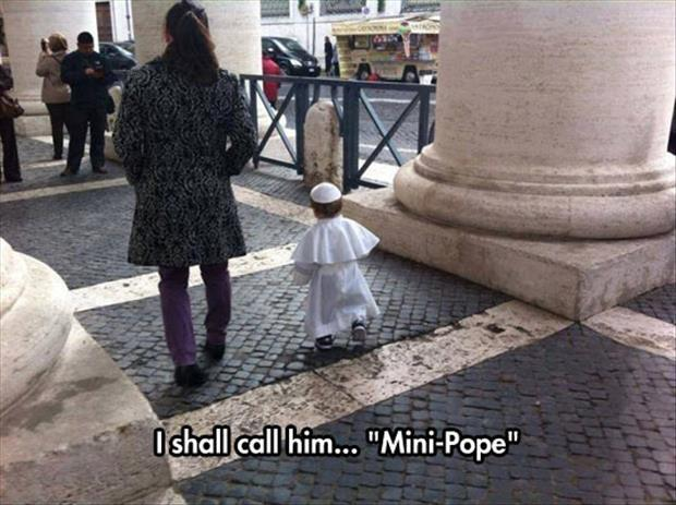 "I shall call him ""mini pope"" Picture Quote #1"
