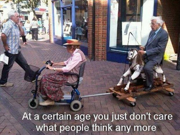 At a certain age you just don't care what people think any more Picture Quote #1