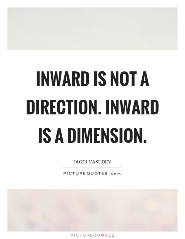 Inward is not a direction. Inward is a dimension Picture Quote #1
