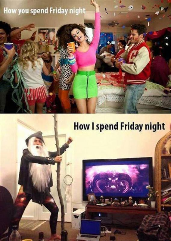 How you spend Friday night. How I spend Friday night Picture Quote #1