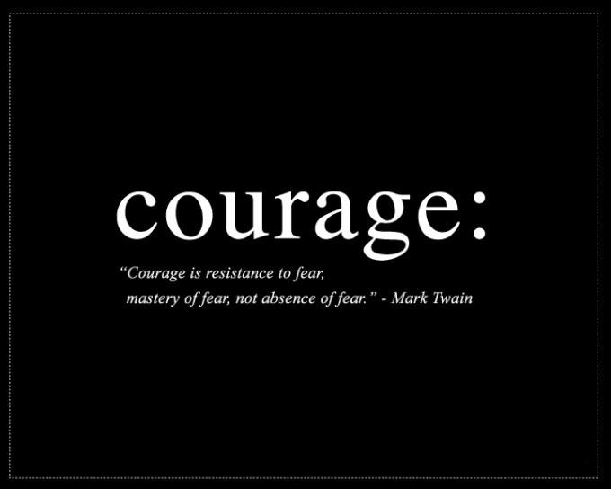 Courage is resistance to fear, mastery of fear, not absence of fear Picture Quote #1