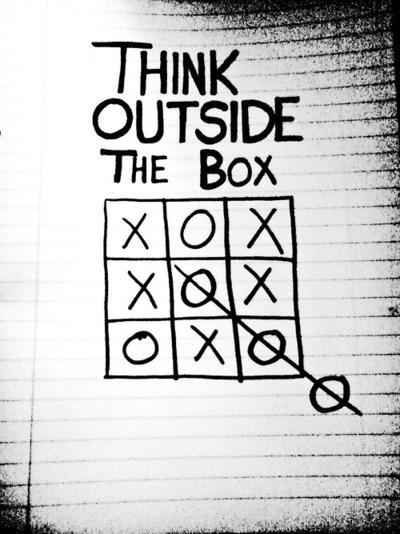 Think outside the box Picture Quote #1