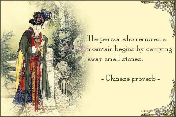 The person who removes a mountain begins by carrying away small stones Picture Quote #1
