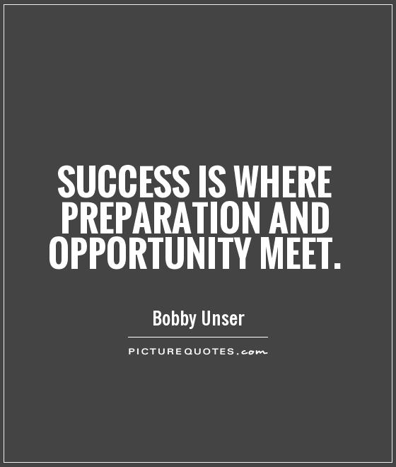 Success is where preparation and opportunity meet Picture Quote #1