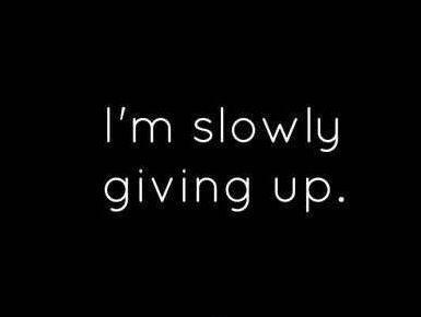 Quotes About Giving Up I'm Slowly Giving Up  Picture Quotes