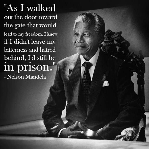 As I walked out the door toward the gate that would lead to my freedom, I knew if I didn't leave my bitterness and hatred behind, I'd still be in prison Picture Quote #1