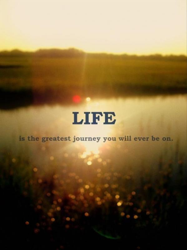 Life is the greatest journey you will ever be on Picture Quote #1