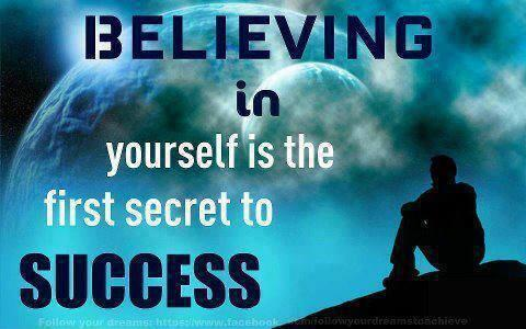 Believing in yourself is the first secret to success Picture Quote #1