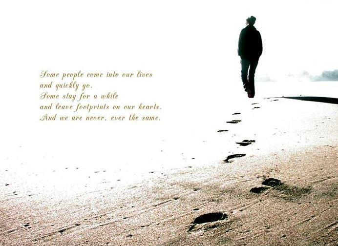 Footprints on Your Heart Quotes Quotes Footprints in The Sand