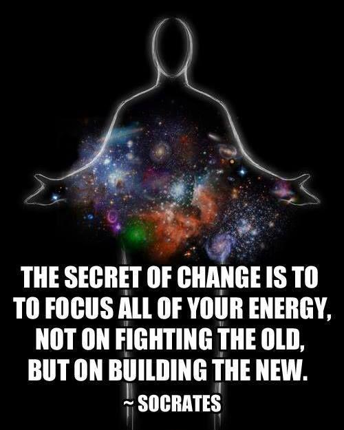 The secret of change is to focus all of your energy not on fighting the old, but on building the new Picture Quote #1