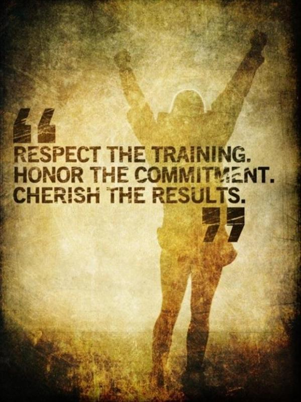 Respect the training. Honor the commitment. Cherish the results Picture Quote #1