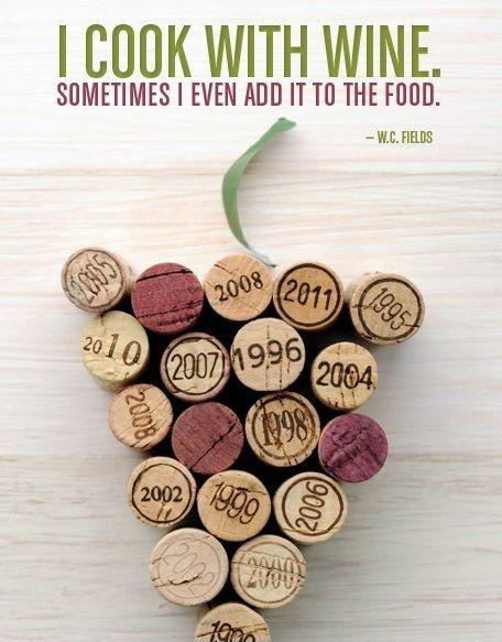 I cook with wine, sometimes I even add it to the food Picture Quote #2