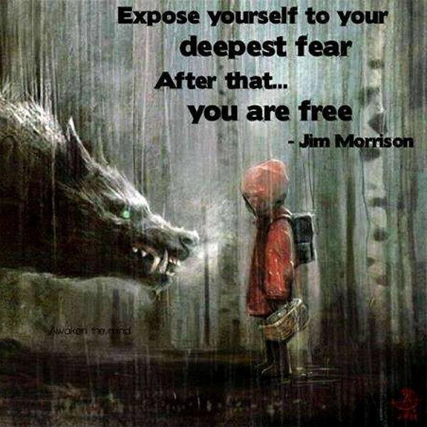Expose yourself to your deepest fear. After that, you are free Picture Quote #1