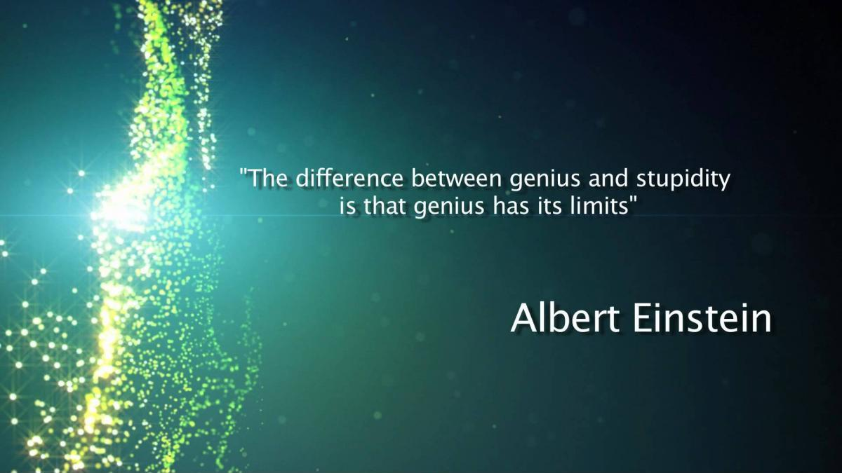 The difference between genius and stupidity is that genius has its limits Picture Quote #1