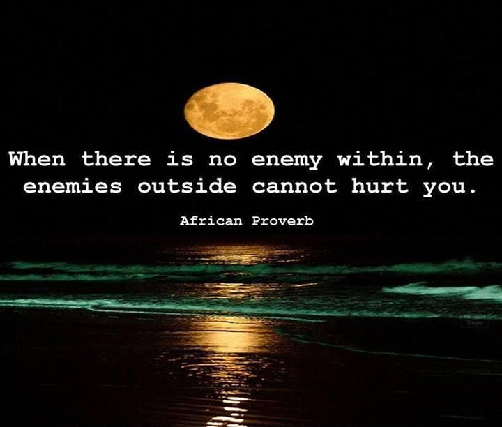 When there is no enemy within the enemies outside cannot hurt you Picture Quote #1