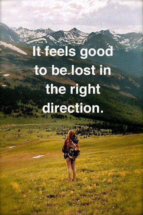If feels good to be lost in the right direction Picture Quote #1