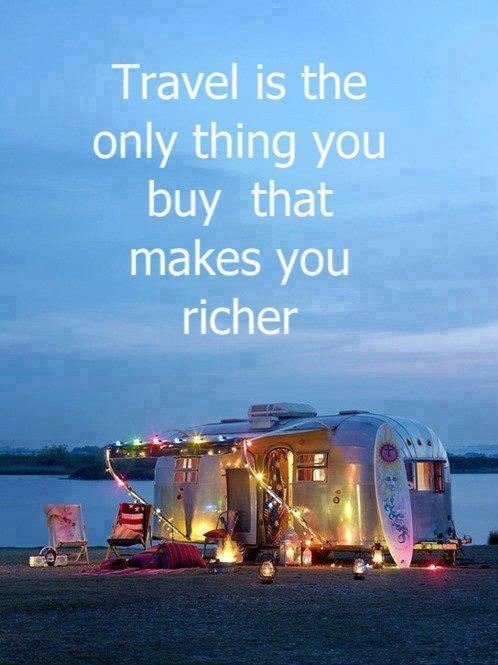 Travel is the only thing you buy that makes you richer Picture Quote #1