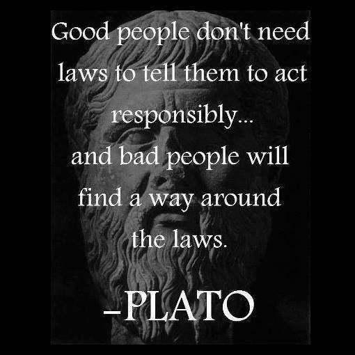 Good people don't need laws to tell them to act responsibly, and bad people will find a way around the laws Picture Quote #1
