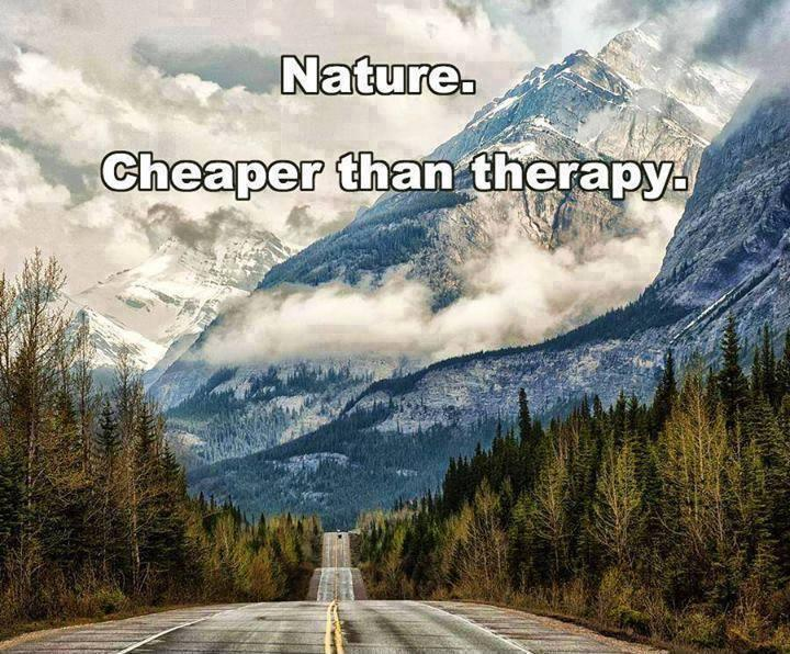 Nature. Cheaper than therapy Picture Quote #1
