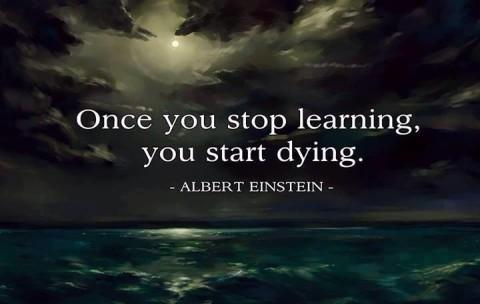 Once you stop learning you start dying Picture Quote #1