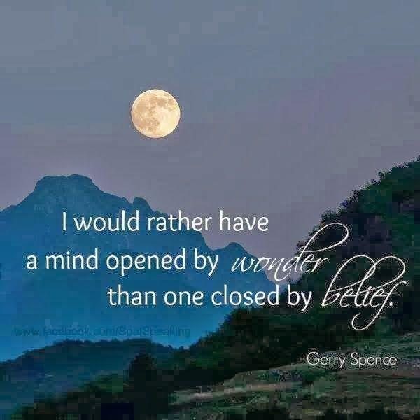 I Would Rather Have A Mind Opened By Wonder Than One
