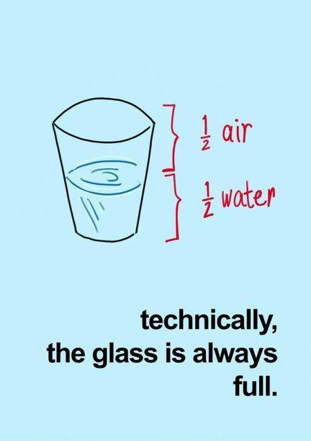 Technically the glass is always full Picture Quote #1