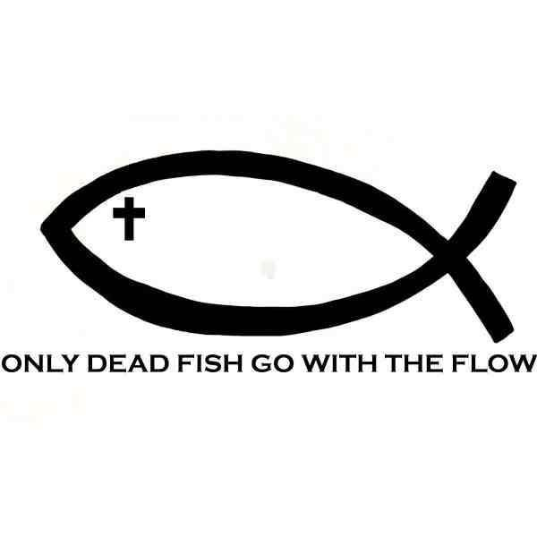 Only dead fish go with the flow Picture Quote #4
