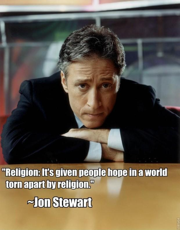 Religion: It's given people hope in a world torn apart by religion Picture Quote #1