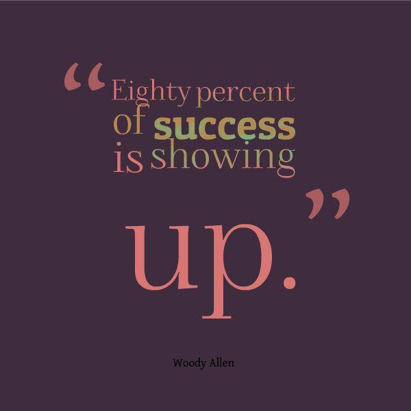 Eighty percent of success is showing up Picture Quote #1
