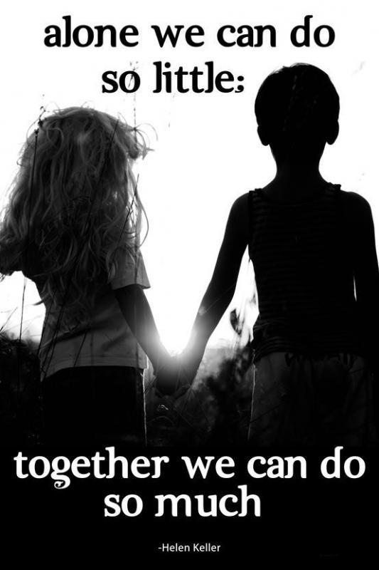 Alone we can do so little, together we can do so much Picture Quote #1