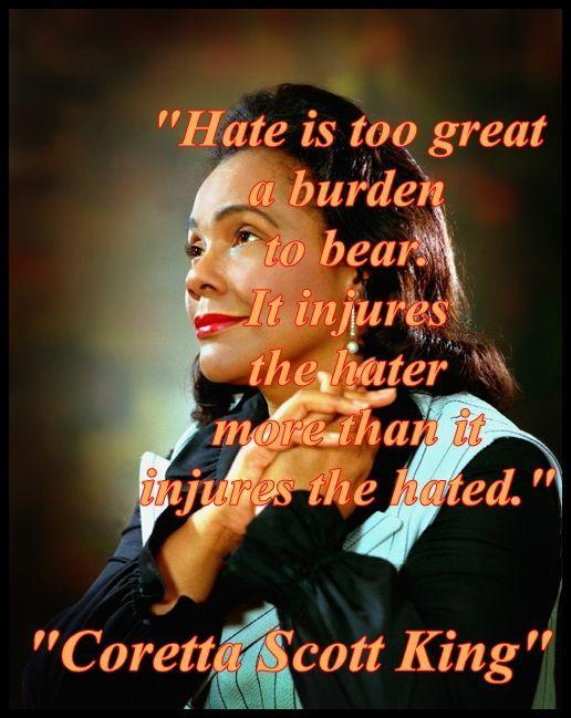Hate is too great a burden to bear. It injures the hater more than it injures the hated Picture Quote #1