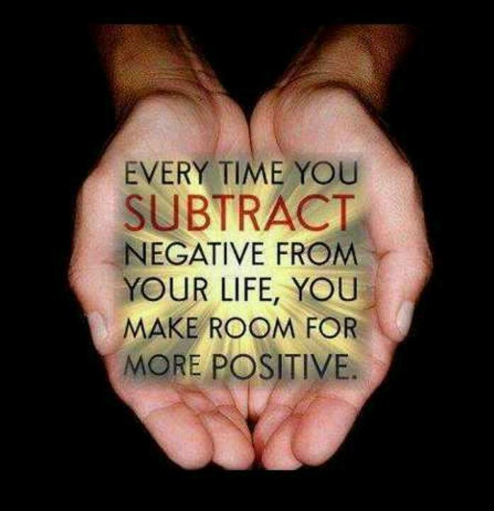 Every time you subtract negative from your life, you make room for more positive Picture Quote #1