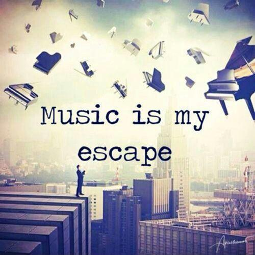 Music is my escape Picture Quote #1