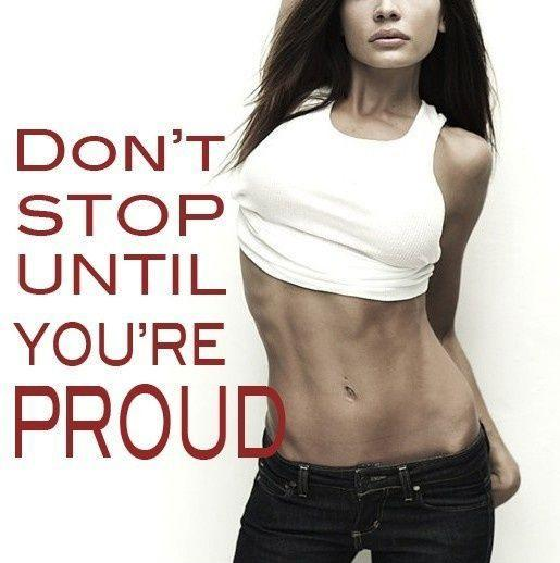 Don't stop until you're proud Picture Quote #1