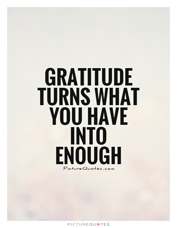 Gratitude turns what you have into enough Picture Quote #1
