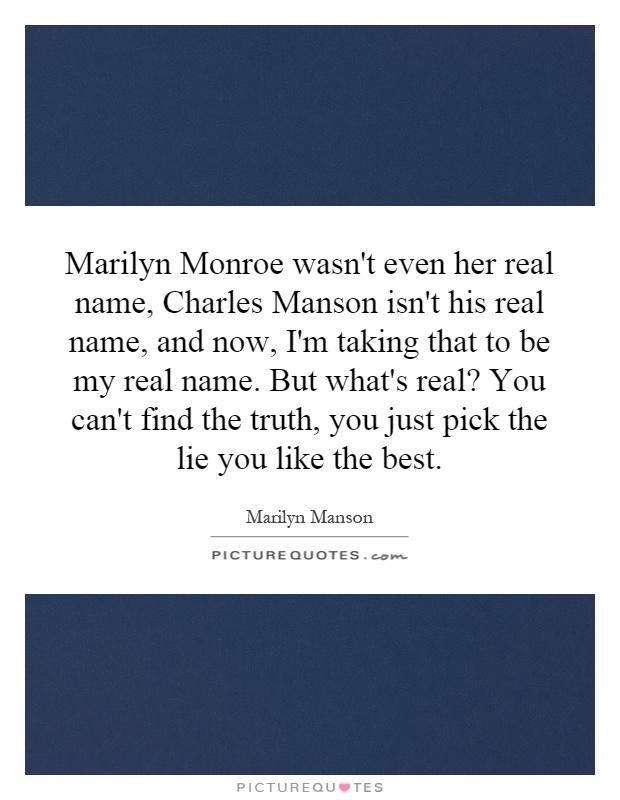 Manson Quotes | Manson Sayings | Manson Picture Quotes