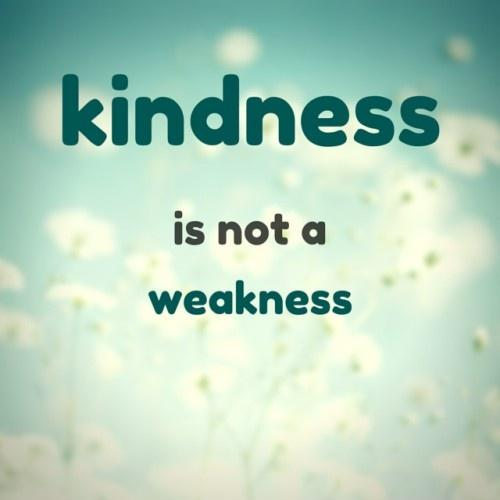 Kindness is not a weakness Picture Quote #1