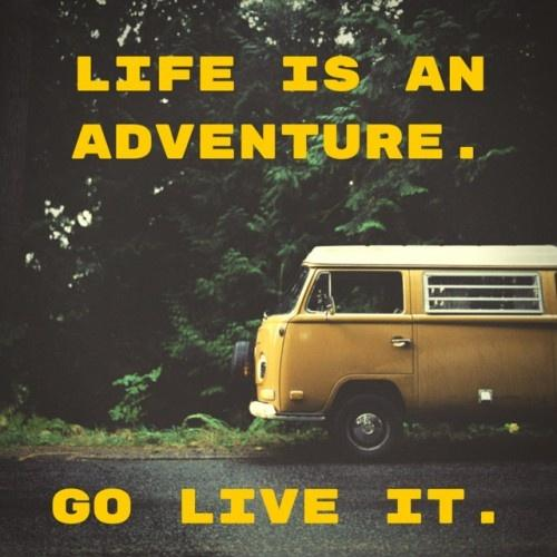 Life is an adventure. Go live it Picture Quote #1