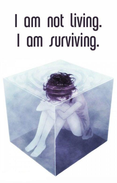 I am not living. I am surviving Picture Quote #1