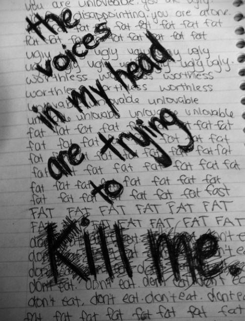 The voices in my head are trying to kill me Picture Quote #1