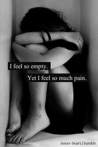 I feel so empty. Yet I feel so much pain Picture Quote #1