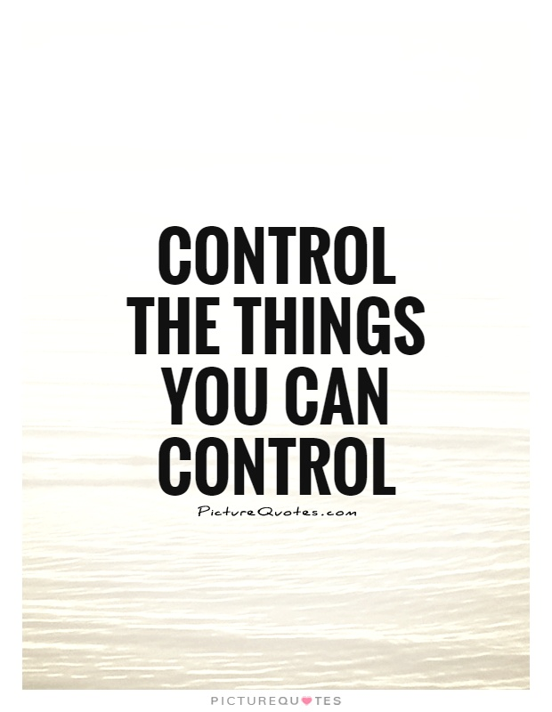 Control the things you can control Picture Quote #1