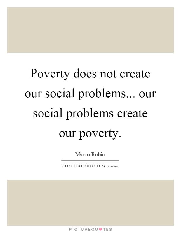 Poverty as a social problem