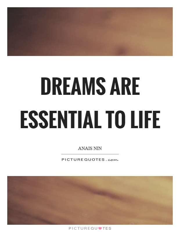 Dreams are essential to life Picture Quote #1