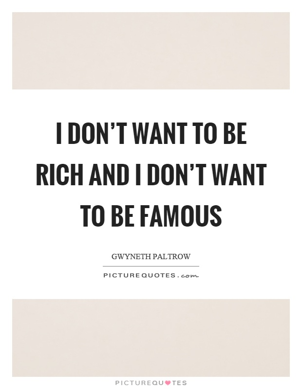 Being rich and famous essay