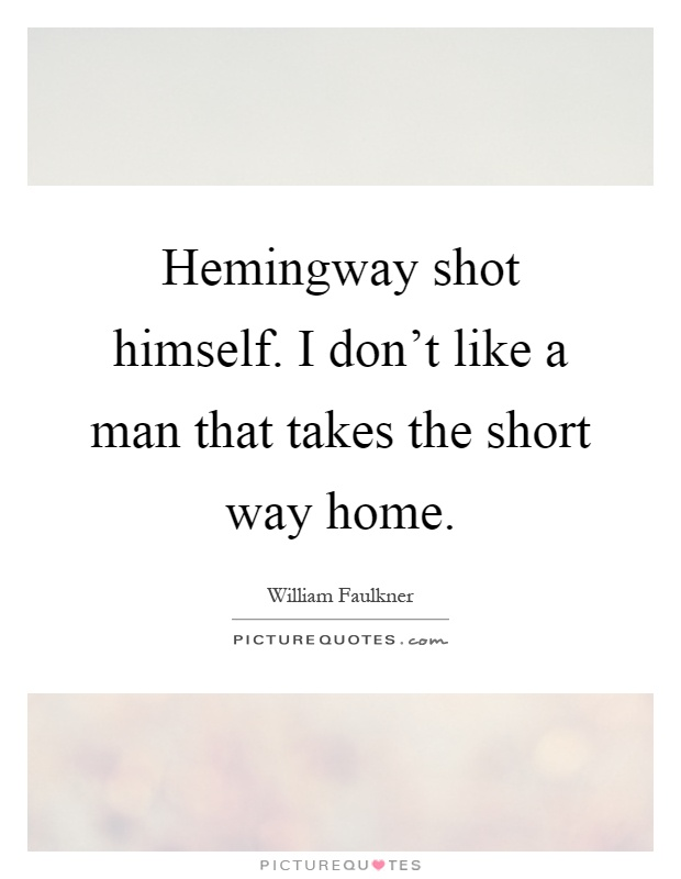 hemmingway and faulkner essay Hills like white elephants is a short story by ernest hemingway that was first published in 1927.
