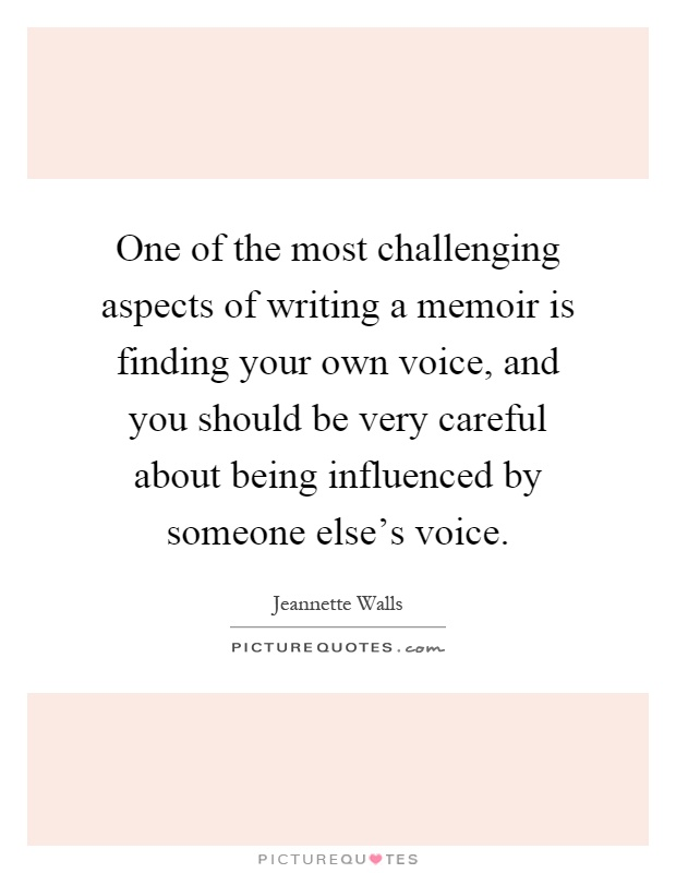 Finding your voice in memoir writing assignment