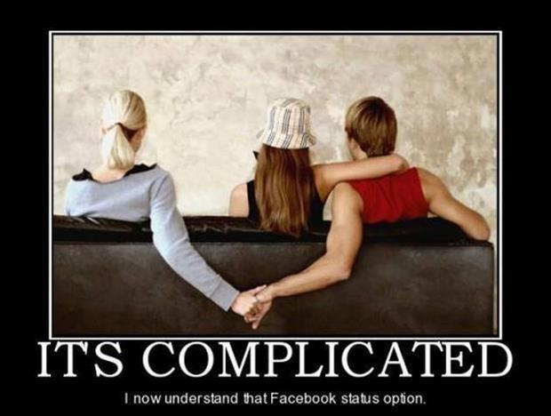 It's complicated. I now understand that Facebook status option Picture Quote #1