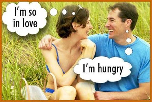 I'm so in love. I'm hungry Picture Quote #1