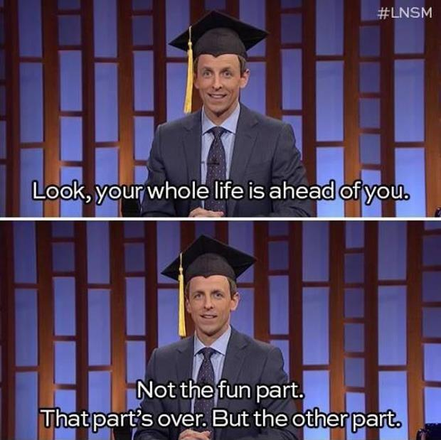 Look, Your Whole Life Is Ahead Of You. Not The Fun Part. That. Share · Life  QuotesGraduation ...
